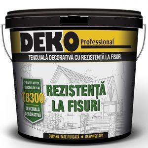tencuiala decorativa Deko T8300 cu fibre elastice si silicon-silicat rezistenta la fisuri
