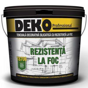 tencuiala decorativa silicatica Deko T8700 cu rezistenta la foc ideala pentru termosistem cu vata minerala