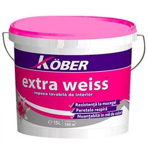 Kober Extra Weiss lavabila interior