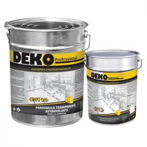 pardoseala epoxidica transparenta autonivelanta Deko E3112