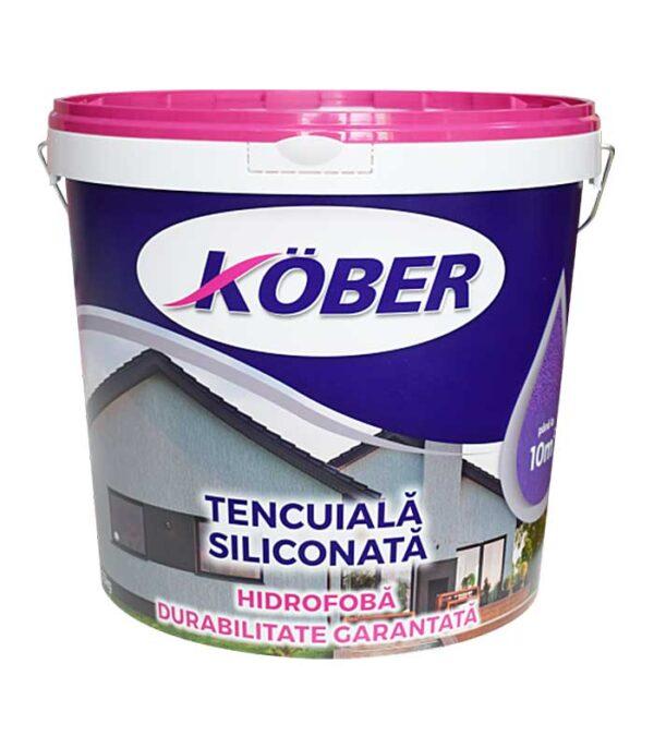 Kober Tencuiala decorativa siliconata pentru finisari decorative ale fatadelor si interioarelor supuse uzurii, avand raport calitate-pret de top.