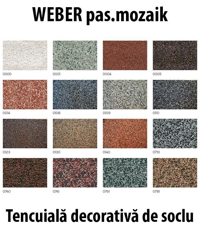 Tencuiala Decorativa Culori.Weber Pas Mozaik Tencuiala Decorativa De Soclu Tip Mozaic