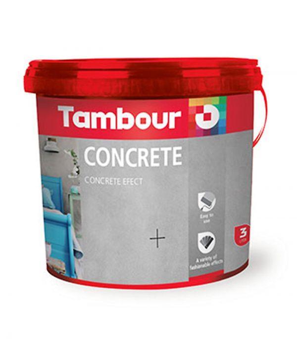 vopsea efect decorativ beton - Tambour Concrete: este o vopsea decorativa pentru peretii interiori. Creaza un finisaj cu aspect de beton