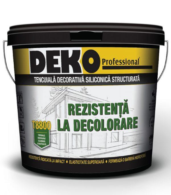 Tencuiala decorativa siliconica structurata DEKO T8800 - vopsele-tencuieli.ro