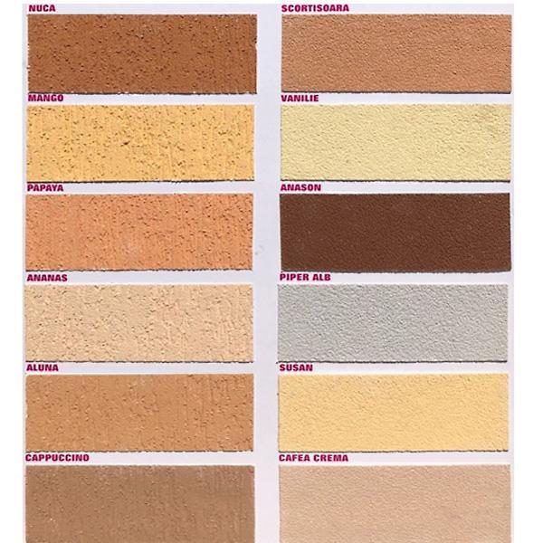 Paleta De Culori Tencuiala Decorativa.Tencuiala Decorativa Cu Fibre De Carbon Scoarta De Copac Kober