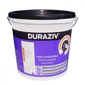 Duraziv vopsea superlavabila cu Kauciuc de interior este ideală pentru spaţii cu trafic intens, unde pereţii necesită curăţare periodică.
