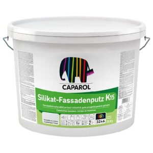 Tencuiala decorativa Caparol Silikat Fassadenputz R si K este o decorativă silicatică, gata pregătită pentru aplicare. Paletar de culori Caparol.