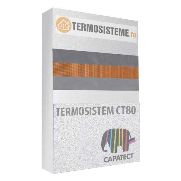 Termosistem fatada CT80 Caparol 10cm este un sitem de izolare termica a fatadei cu polistiren Caparol CT80 cu grosimea de 10cm.