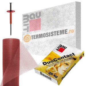 Termosistem de fatada DUO EPS80 BAUMIT 10cm este un sitem de izolatie pentru fatada casei. Confera rezistență si durabilitate ridicată, excelent raport calitate-preț.