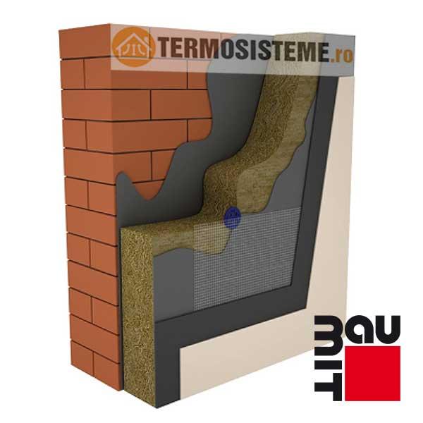 Termosistem vata minerala bazaltica BAUMIT 10cm este un sitem de izolatie pentru fatada casei. Confera rezistență si durabilitate ridicată, excelent raport calitate-preț.