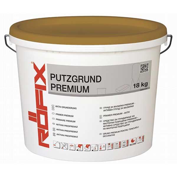 Grund activ ROFIX Putzgrund Premium este un grund gata de utilizare, pigmentat, fără solvenți, amorsă/impregnare - grund combinat.