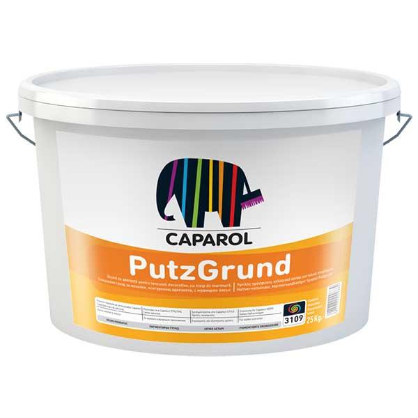 Grund tencuiala CAPAROL Putzgrund este un grund-vopsea special, diluabil cu apă, cu rol de creștere a aderenței, destinat aplicări pe suprafeţe minerale portante, interioare şi exterioare. Pretul afisat este pentru culoareaALB.