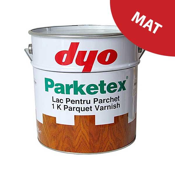 Lac parchet mat DYO Parketex este un lac pentru parchet masiv, monocomponent, pe baza de rasina alchidica cu uretan. Produsul nu contine plumb. Aspect: mat.