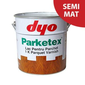 Lac parchet semimat DYO Parketex este un lac pentru parchet masiv, monocomponent, pe baza de rasina alchidica cu uretan. Produsul nu contine plumb. Aspect: semimat.