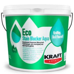 Grund Kraft Eco Stain Blocker Aqua anti-pete este un grund acrilic alb pe baza de apa. Capacitate de a impiedica petele sa migreze in stratul de finisaj.