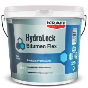Hidroizolatie KRAFT HydroLock Bitumen Flex este o emulsie bituminoasa pe baza de apa: bitum, aditivi si cauciuc sintetic. Bariera impotriva apei si vaporilor.