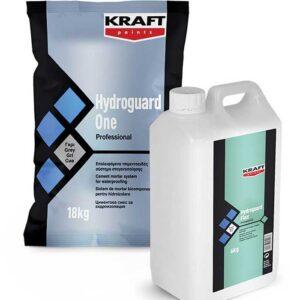Hidroizolatie flexibila KRAFT Hydroguard bicomponent este un mortar de culoare gri ce formeaza un strat hidroizolant rezistent si flexibil.