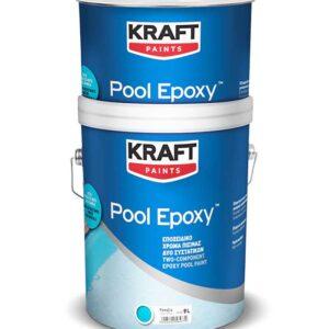 Vopsea epoxidica KRAFT Pool Epoxy este o vopsea epoxidica bicomponenta pe baza de solvent, pentru piscine cu rezistenta excelenta la apa.